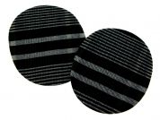 Plaid Check Iron On Oval Patches  Black & Grey