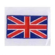 Union Jack Flag Patch Motif  Red White Blue