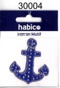 Nautical Anchor Patch Motif  Blue