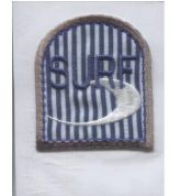 Surf Patch Motif  Blue