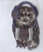 Funny Owl Patch Motif  Multicoloured