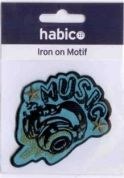 Music Patch Motif  Turquoise
