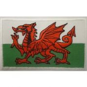 Welsh Flag Patch Motif  Multicoloured