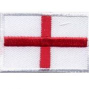 Englad Flag Patch Motif  Red & White
