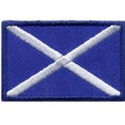 Scotland Flag Patch Motif  Blue
