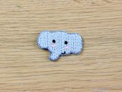 each MI-4-4148-M Knitted Elephant Head Embroidered Iron On Motif Applique