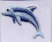 Dolphin Patch Motif  Blue