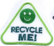 Recycle Me Patch Motif  Green