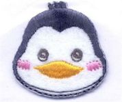 Penguin Patch Motif  Multicoloured