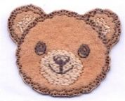 Bear Head Patch Motif  Brown