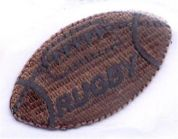 Rugby Ball Patch Motif  Brown