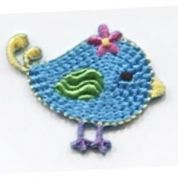 Bird Patch Motif  Turquoise