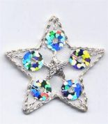 Sequin Star Patch Motif  Silver