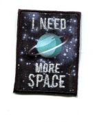Space Patch Motif  Navy Blue