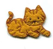 Cat Patch Motif  Tan