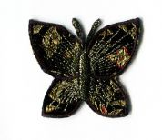 Butterfly Patch Motif  Black