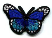 Butterfly Patch Motif  Blue