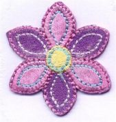 Flower Patch Motif  Pink