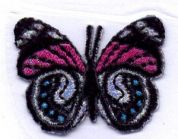 Butterfly Patch Motif  Multicoloured