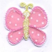 Butterfly Patch Motif  Pink