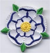 Yorkshire Rose Patch Motif  White