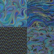 Metallic Peacock Fat Quarter Fabric Pack