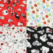 Knitting Fat Quarter Fabric Pack