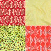 Colourful Leaves Fat Quarter Fabric Pack