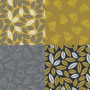 Geometric Leaves Fat Quarter Fabric Pack