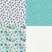Nautical Fat Quarter Fabric Pack