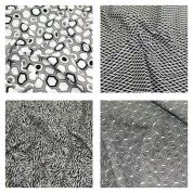 Black Geo Fat Quarter Fabric Pack
