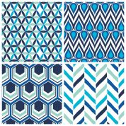 Turquoise Geo Fat Quarter Fabric Pack