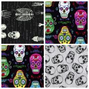 Skulls Fat Quarter Fabric Pack