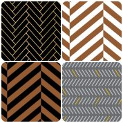 Herringbone Fat Quarter Fabric Pack