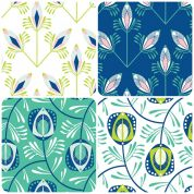 Feathers Fat Quarter Fabric Pack
