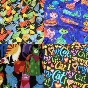 Colourful Cats Fat Quarter Fabric Pack