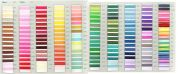 Embroidery Silks Cotton Floss Thread Assorted Colours