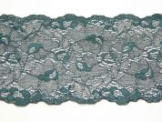 14cm Extra Wide Luxury Corded Lace Trimming  Dark Green