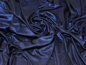 Lady McElroy Foiled Jersey Knit Fabric  Blue on Black