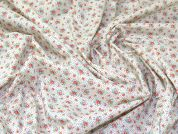Lady McElroy Floral Polycotton Fabric  Multicoloured