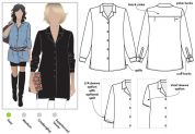 Style Arc Ladies Easy Sewing Pattern Jane Overshirt