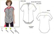 Style Arc Ladies Sewing Pattern Maggie Shirt