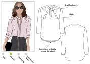 Style Arc Ladies Sewing Pattern Holly Woven Blouse