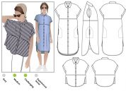 Style Arc Ladies Sewing Pattern Blaire Shirt & Dress