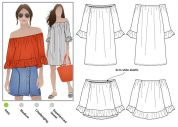 Style Arc Ladies Easy Sewing Pattern Ellie Mae Tunic Top