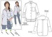 Style Arc Ladies Sewing Pattern Lauren Boyfriend Shirt