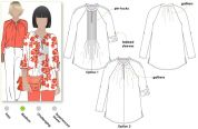 Style Arc Ladies Sewing Pattern Faith Woven Top