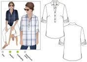 Style Arc Sewing Pattern Lennie Over Shirt