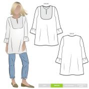 Style Arc Sewing Pattern Culliver Tunic