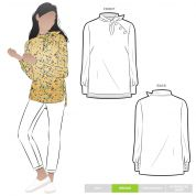 Style Arc Sewing Pattern Macey Blouse